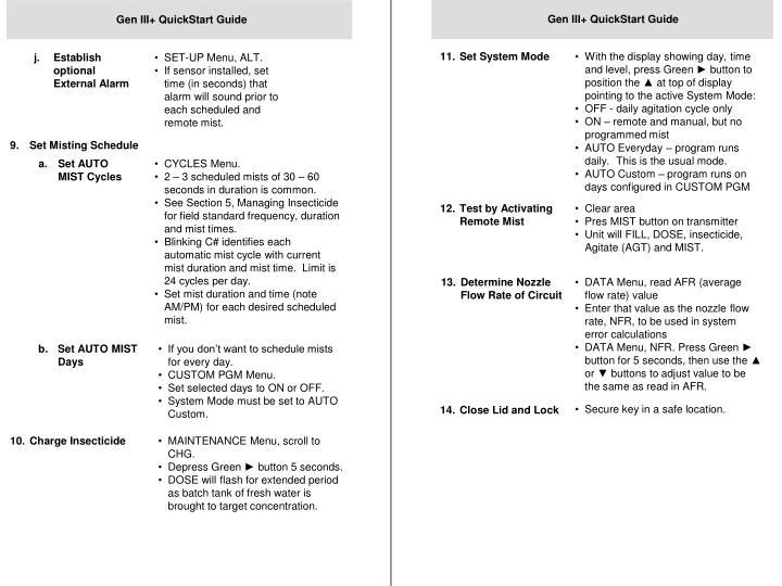 Gen III+ QuickStart Guide