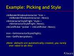 example picking and style