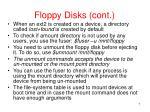 floppy disks cont