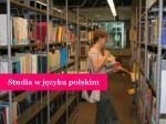 studia w j zyku polskim