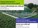 wi cej informacji o uniwersytecie warszawskim