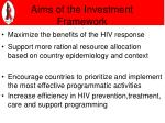 aims of the investment framework