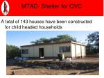 mtad shelter for ovc