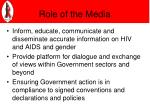 role of the media