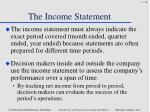 the income statement2
