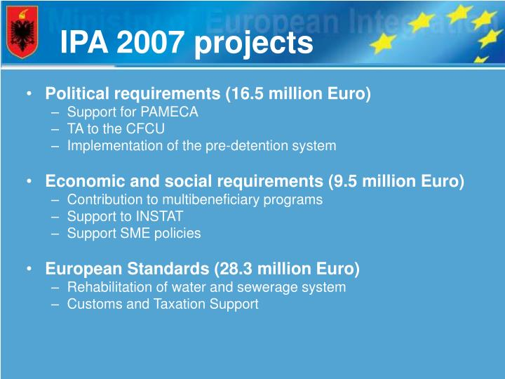 IPA 2007 projects