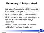 summary future work