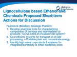 lignocellulose based ethanol and chemicals proposed short term actions for discussion