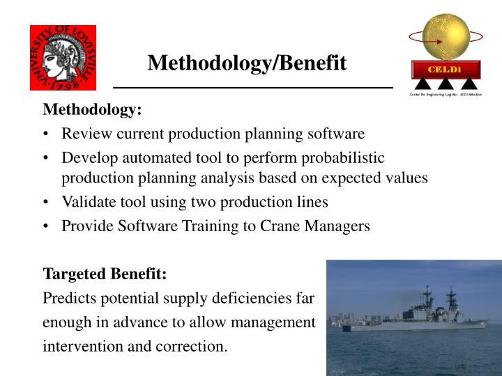Methodology/Benefit
