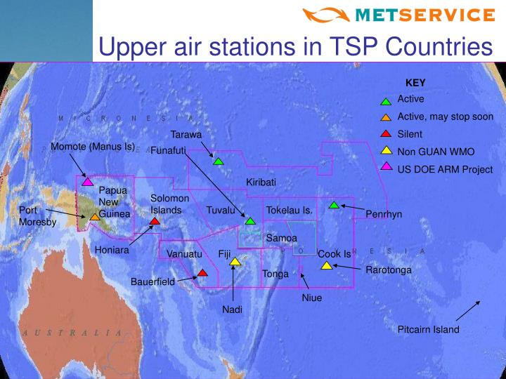 Upper air stations in TSP Countries