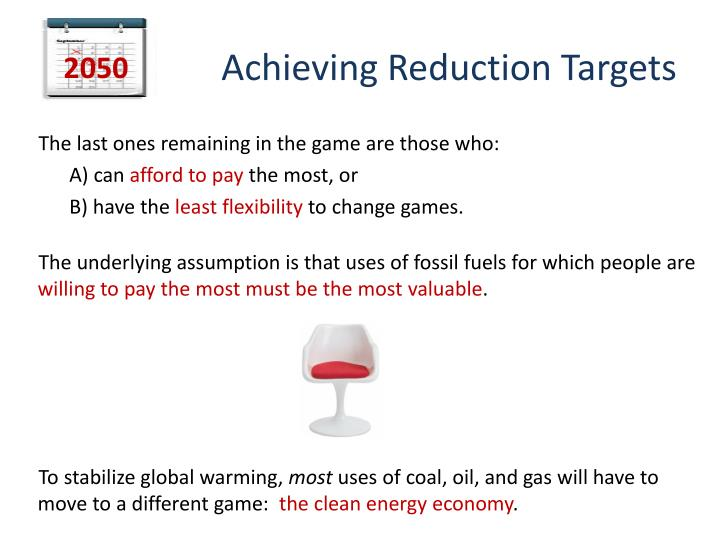 Achieving Reduction Targets