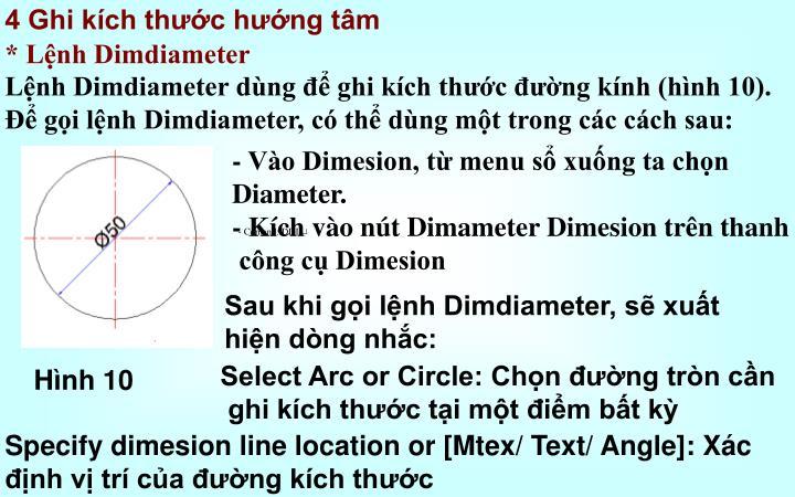 4 Ghi kích thước hướng tâm