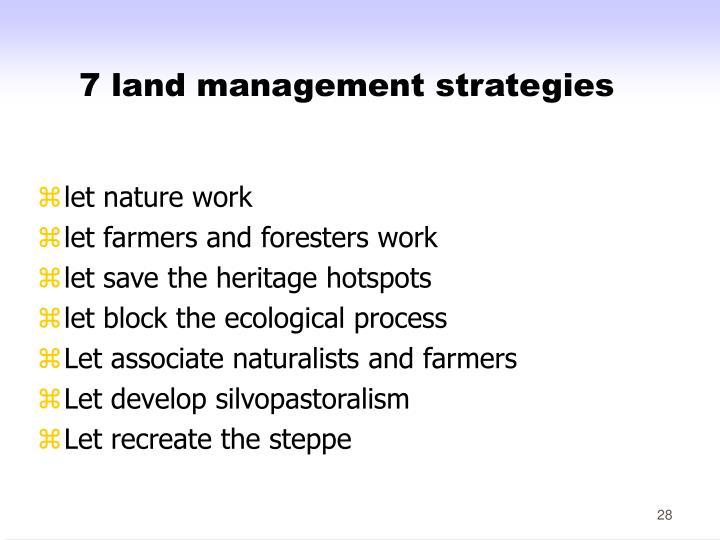 7 land management strategies