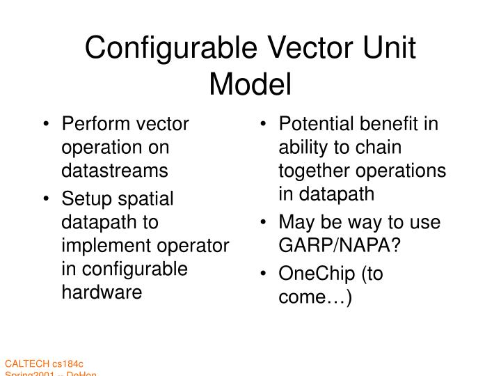 Perform vector operation on datastreams