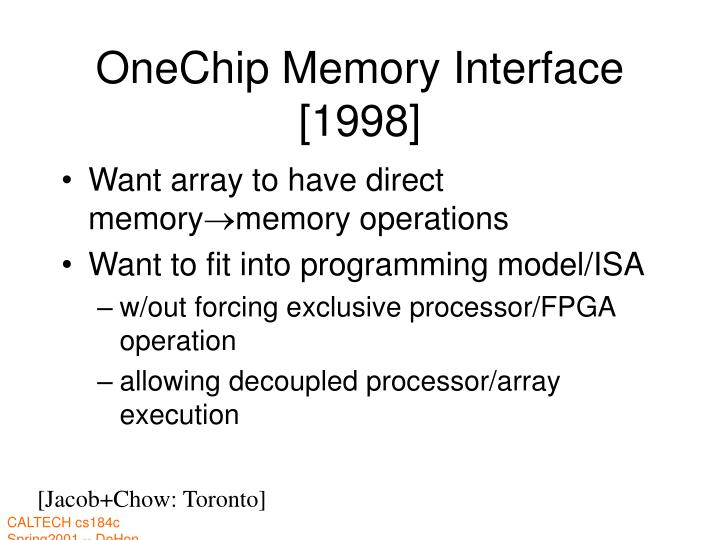 OneChip Memory Interface [1998]