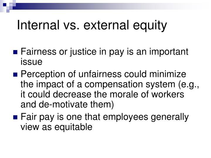 Internal vs. external equity