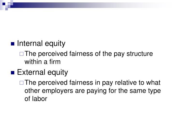 Internal equity