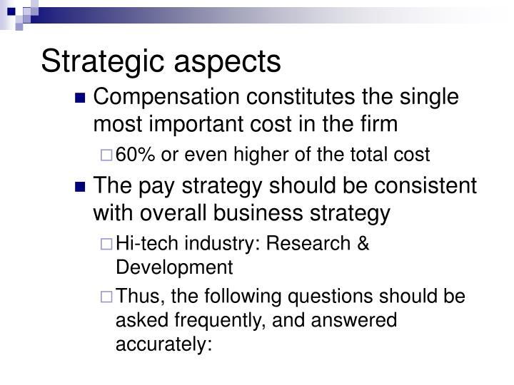 Strategic aspects