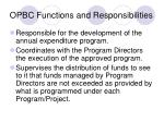 opbc functions and responsibilities