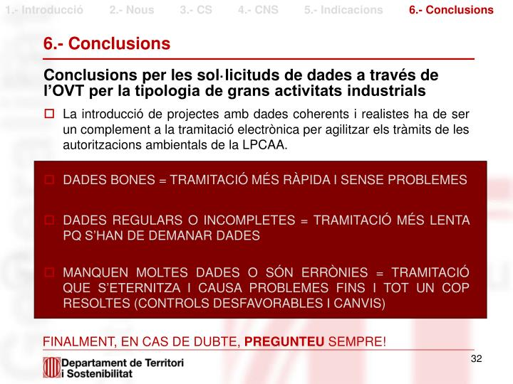 6.- Conclusions