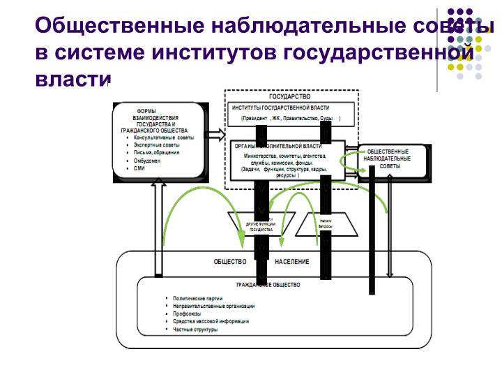 Общественные наблюдательные советы  в системе институтов государственной власти