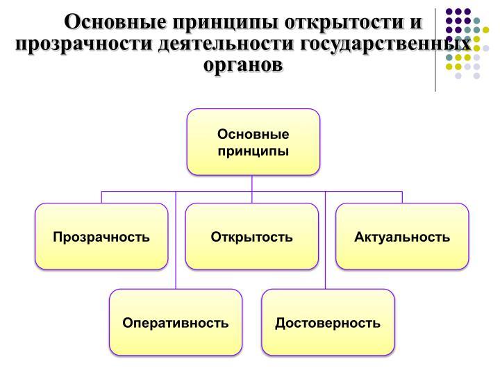 Основные принципы открытости и прозрачности деятельности государственных органов
