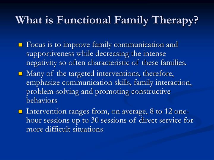 What is Functional Family Therapy?