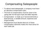 compensating salespeople