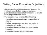 setting sales promotion objectives