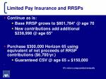 limited pay insurance and rrsps4