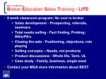 sales and marketing b roker e ducation s ales t raining life