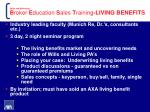 sales and marketing b roker e ducation s ales t raining living benefits