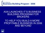 sales and marketing business building program 2006