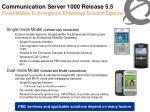 communication server 1000 release 5 5 fixed mobile convergence enterprise solution options