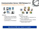 communication server 1000 release 5 5 fixed mobile convergence key choices