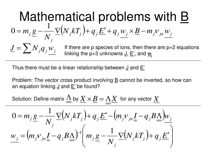 Mathematical problems with