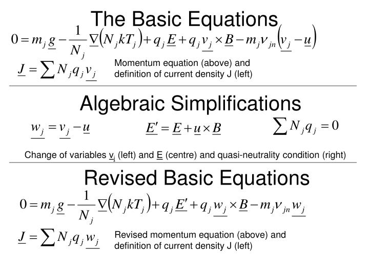 The Basic Equations