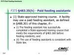 f373 483 35 h paid feeding assistants