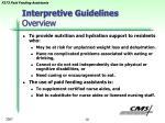 interpretive guidelines overview