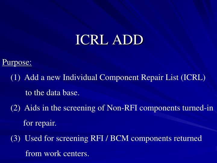 ICRL ADD