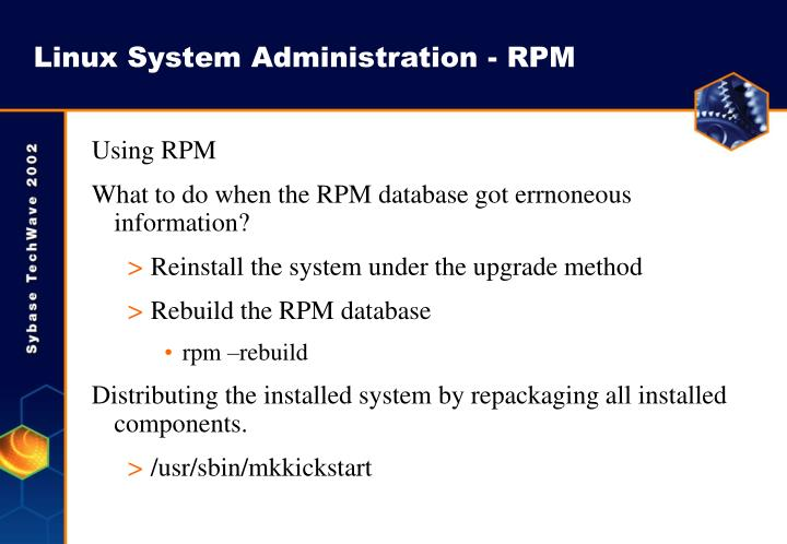 linux system administration wa 1