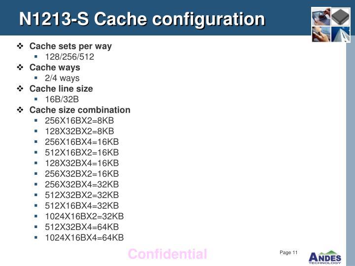 N1213-S Cache configuration