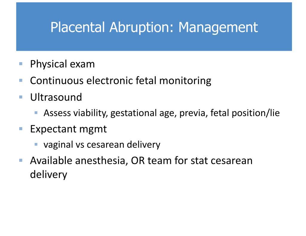 Ppt Third Trimester Bleeding Postpartum Hemorrhage
