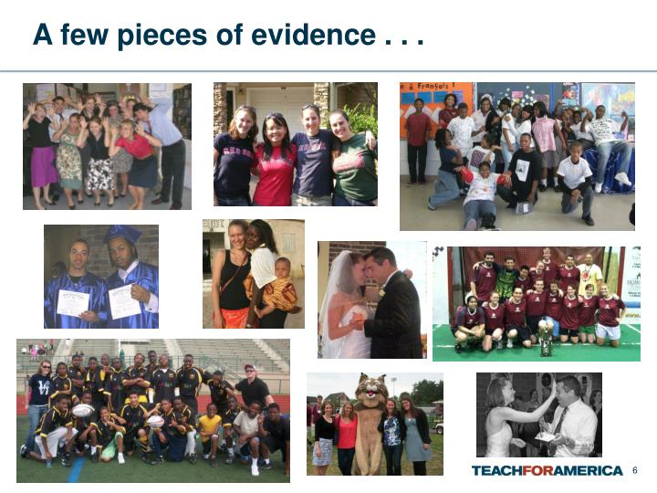 A few pieces of evidence . . .