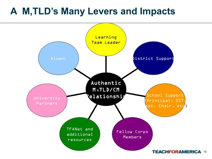A  M,TLD's Many Levers and Impacts