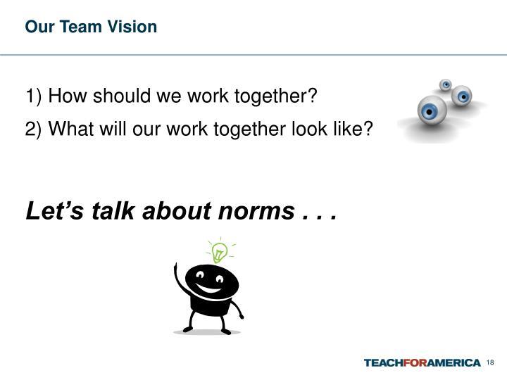 Our Team Vision