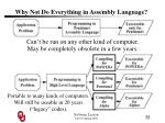 why not do everything in assembly language