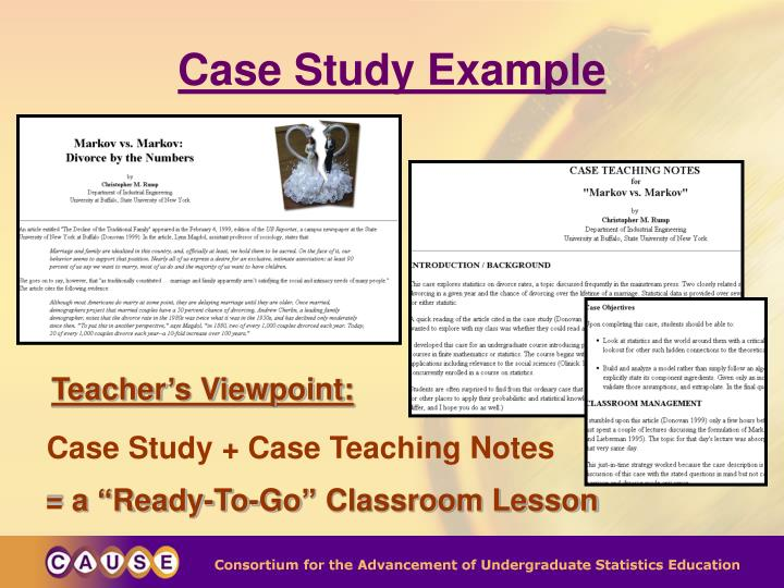 Case Study + Case Teaching Notes