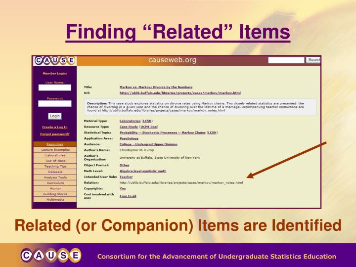 """Finding """"Related"""" Items"""