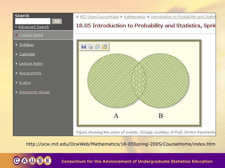http://ocw.mit.edu/OcwWeb/Mathematics/18-05Spring-2005/CourseHome/index.htm